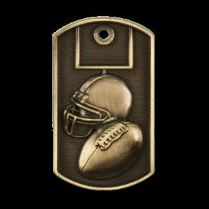 Personalized Football Dog Tag Award