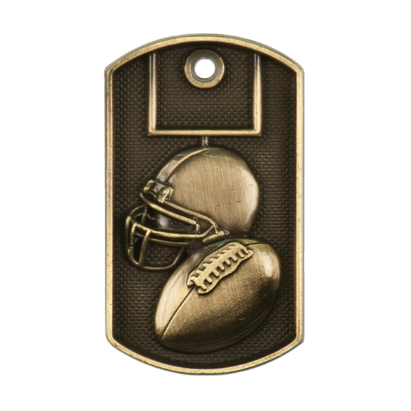 Personalized Football Dog Tag Award
