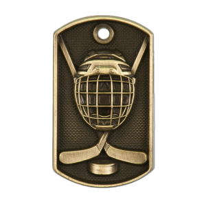 Personalized Hockey Dog Tag Award