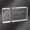 Appreciation Award | Acrylic Award with Mid Walnut Band Design