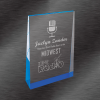 Business Awards Frosted Acrylic Wedge Award Blue
