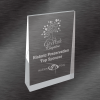 Frosted Acrylic Wedge Award Silver
