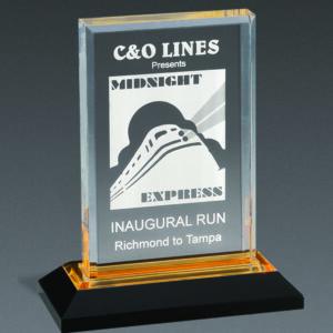 Gold Impress Acrylic Award