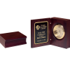 Mahogany Finish Clock Award