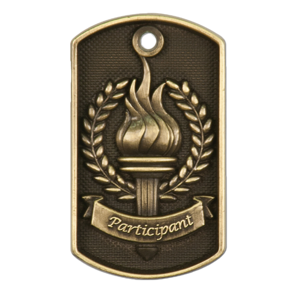Personalized Participant Dog Tag Award