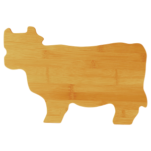 Personalized Cow Shaped Cutting Board