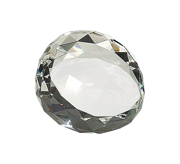 Round Crystal Facet Paperweight
