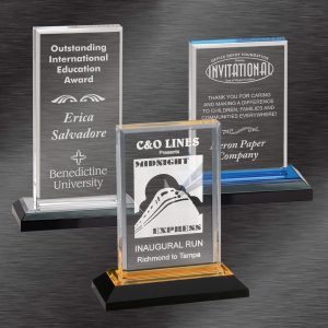 Scholastic Awards | Colored Base Impress Acrylic Award | Choice of Color