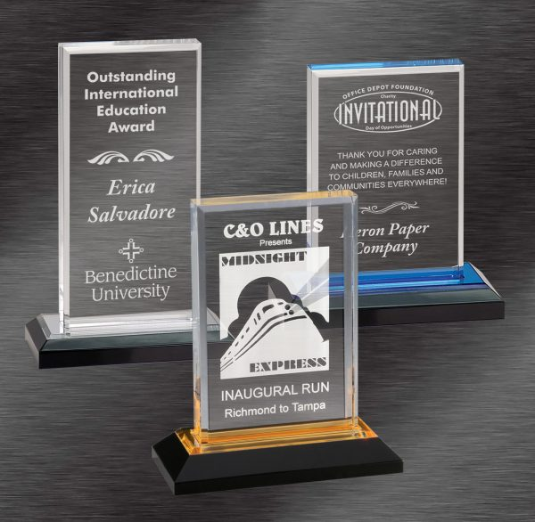 Scholastic Awards | Colored Base Impress Acrylic Award | Choice of Color