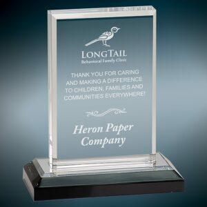 Silver Base Acrylic Award