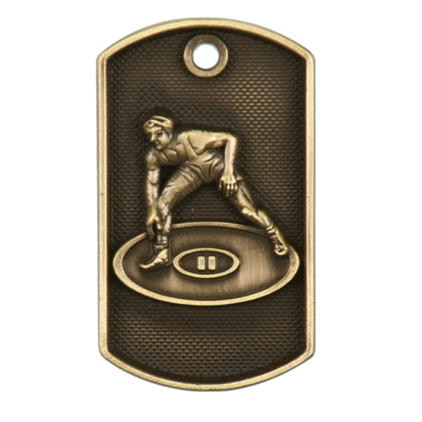 Personalized Wrestling Dog Tag Awards