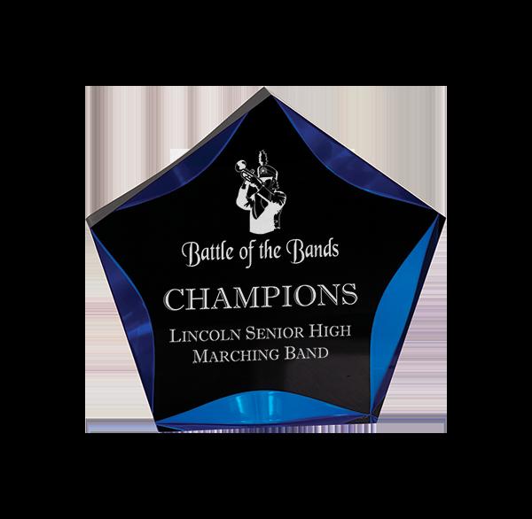 Acrylic Star Award Blue