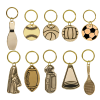 Brass Sports Themed Keychains