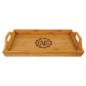 Personalized Bamboo Serving Tray