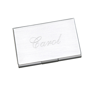 Personalized Business Card Holder | Engraved Metal