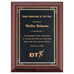 Custom-engraved-plaques-Cherry-Finish-Plaque