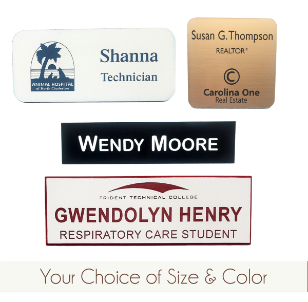 Custom Name Tags | Plastic