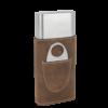 Dark Brown Brown Cigar Case