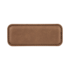 Dark Brown Leather Name Badge