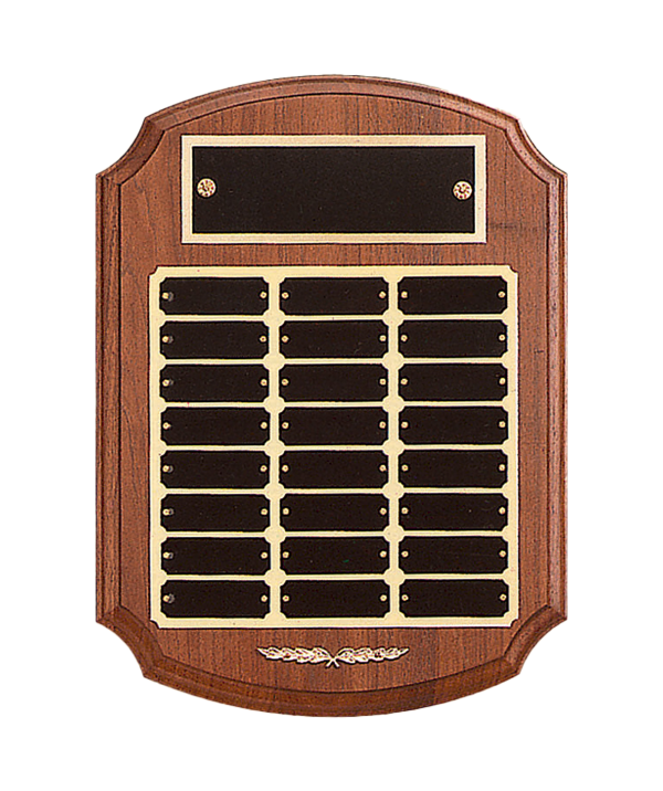 Perpetual Plaques and Awards | Solid American Walnut | 12 or 24 plates