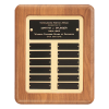 Employee of the Month Perpetual Plaque | Solid American Walnut