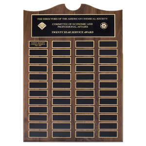 Perpetual Award | Traditional American Walnut Plaque
