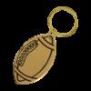 Personalized Football Keychain