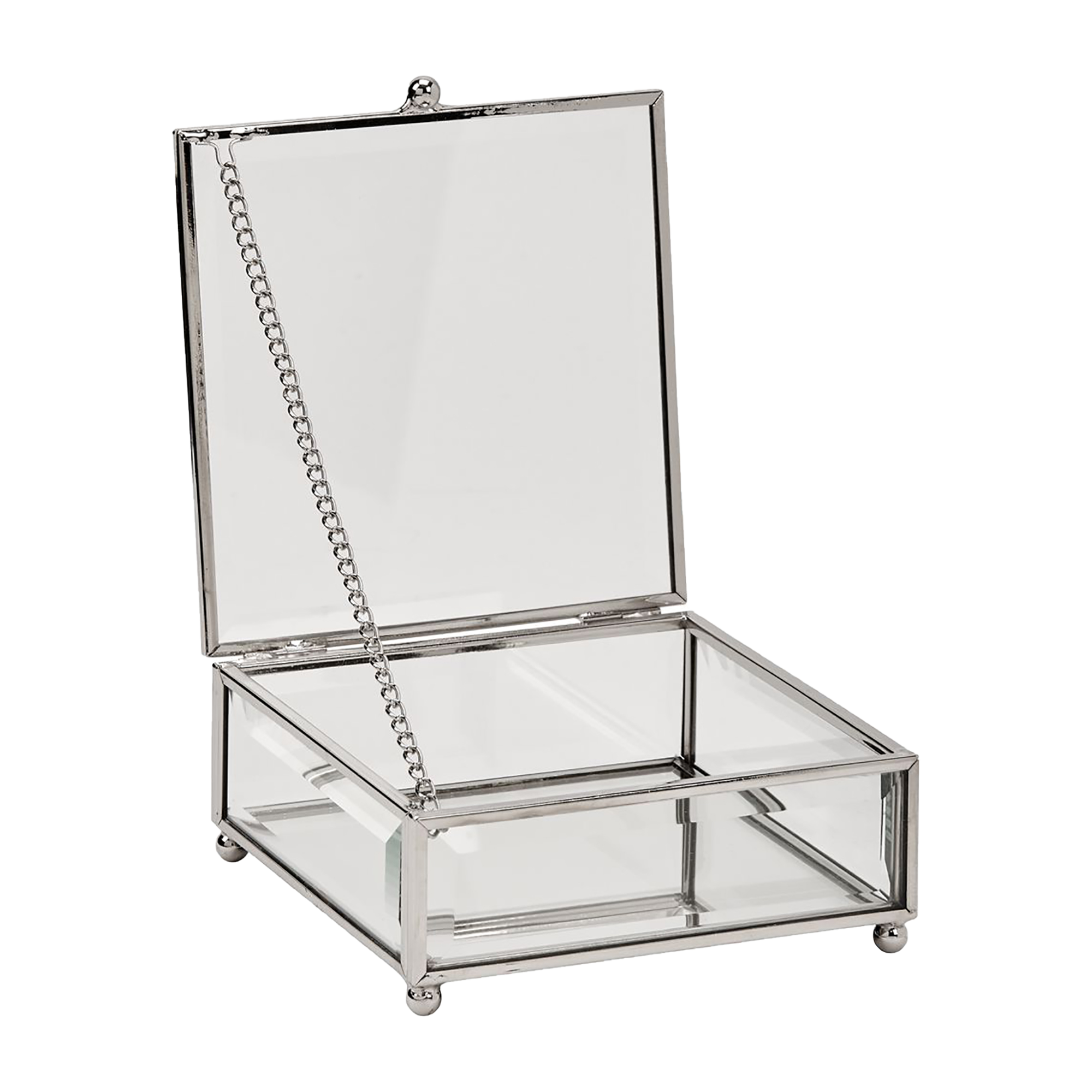 Personalized Glass Jewelry Box