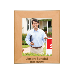 Personalized Red Alder Picture Frame