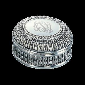 Personalized Round Beaded Jewelry Box