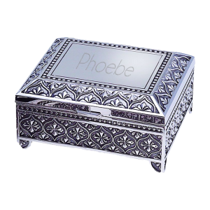 Personalized Square Jewelry Box