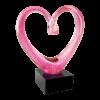 Pink Glass Heart Award