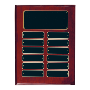 Unique Perpetual Plaques | Rosewood Piano Finish, Choice of Size