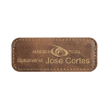 Rustic Gold Leather Name Badge