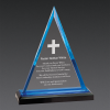 Triangle Acrylic Awards Blue