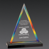 Triangle Acrylic Awards Rainbow