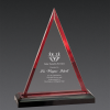 Triangle Acrylic Awards Red