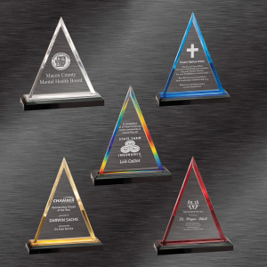 Trophies and Awards | Colored Triangle Impress Acrylic Award