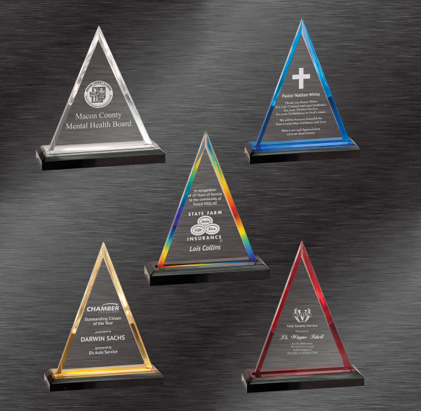 Triangle Impress Acrylic Awards