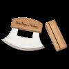 personalized Alaskan ulu knife and stand