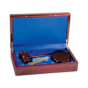 Personalized Gavel and Block Set
