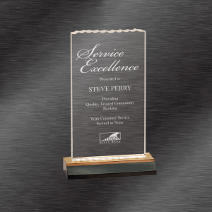 Corporate Recognition Awards | Ice Top Acrylic Award, Gold Base