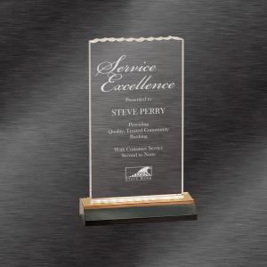 Gold Ice Top Reflection Acrylic Award