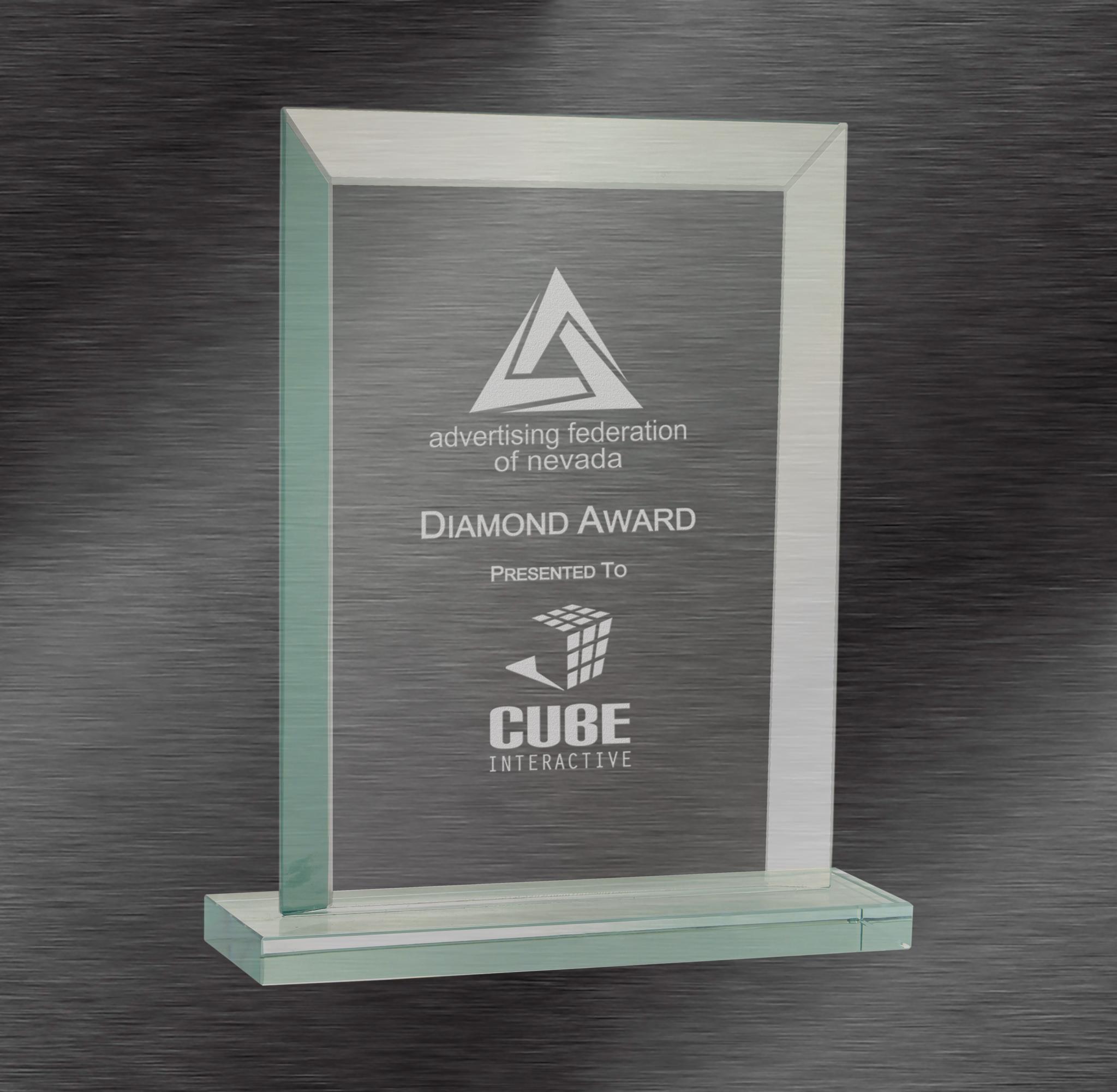Rectangle Jade Glass Award
