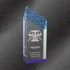 Riptide Acrylic Award Blue
