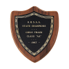 Shield Plaque | American Walnut Personalized Plaques