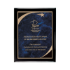Black Piano Finish Plaque with Blue Victory Star Plate