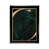 Black Piano Finish Plaque with Green Victory Star Plate