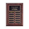 Cherry Finish Perpetual Plaque_ 12 plate
