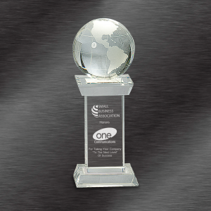 Crystal Globe on Tower Award